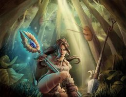 League of Legends-Nidalee by Irina-Hirondelle