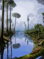Carboniferous period by Plioart