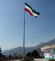 Giant Iranian Flag by fuguestock