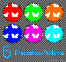 6 Photoshop Patterns by Suki95