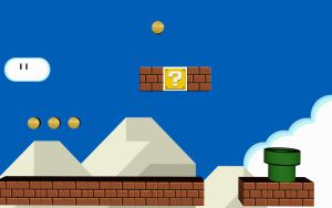 Super mario 3D level by HizzyGaze
