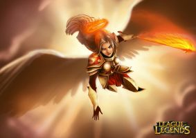 kayle: Justice on swift wings by DarkRaven1988