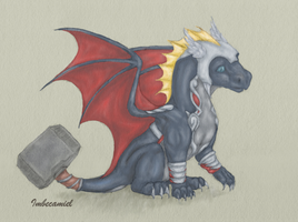 Baby Thor Dragon by Imbecamiel
