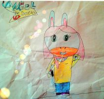 First Spyro fan character: Angel the donkey. by Burrowgirl2002