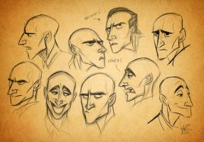 Mark Strong expression sheet by fangirl-art