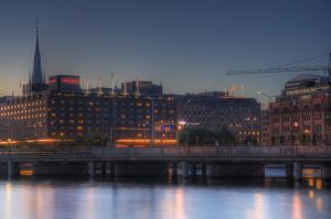Stockholm City at Dusk VIII by HenrikSundholm