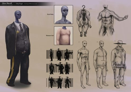 Character Design: Alien Sheriff by Chey-the-Illustrata