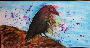Untitled(Zombie bird) by 666mephistopheles