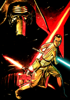 The Dark Side And The Light by ChristopherOwenArt