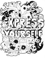Express Yourself Doodle by CoffeeVulture