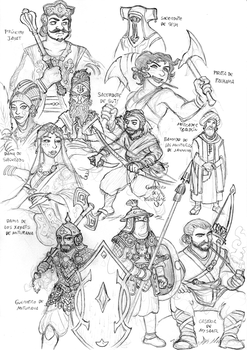 RPG sketches by Arianod