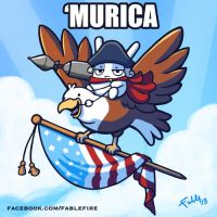 Most American Bunny Ever by fablefire