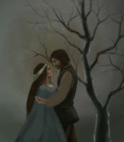 Aragorn and Arwen WIP2 by JuneJenssen