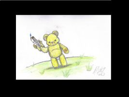 Flame Thrower Bear by fabman132