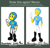 Before and After Meme: Super D by KingDvo
