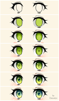 Cute green eyes Steps by Deavelyn