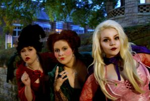 Hocus Pocus: Mary, Sarah  and Winifred Sanderson by NailgunInk