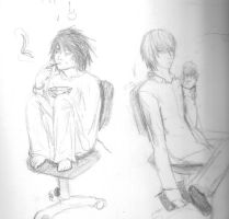 DN: Light and Lawliet by omtay