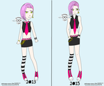 Before and After - uncomfortably Pink by Princess-CoCo-154