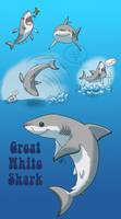 SHARK WEEK 2014 #6- Great White by comixqueen
