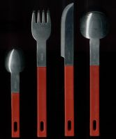 Spoon-fork-knife normal view by antio-stock