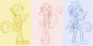 more chameleon sketches by Shini-Smurf