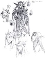 Kael'thas Sketch Sheet 1 by Project-Ikara