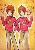 HP :: Fred and George :: by in-gravity