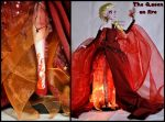 repainted ooak elsa lamp. - the queen on fire. by verirrtesIrrlicht
