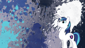 Shining Armor Splatter Wallpaper by brightrai