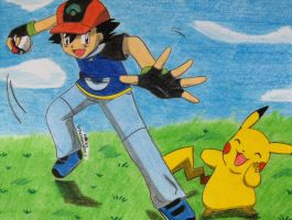 Ash and Pika the best Team eva by Ash-Misty-Pikachu