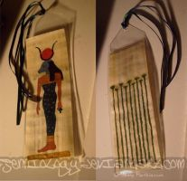 Celestial Cow papyrus bookmark by jenniology