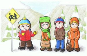 South Park boys by Freaky-chan