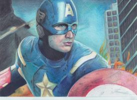 Captain America by Bubbeeelz