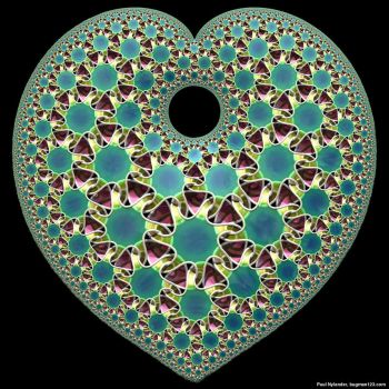 Heart Shaped Hyperbolic Tiling by bugman123