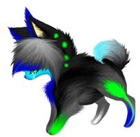 Neon Scene Dog by MemoriaSwan