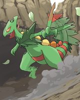 Pokemon: Mega Sceptile by mark331