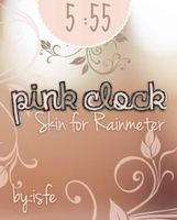 Skin for Rainmeter Clock Pink Flower by Isfe