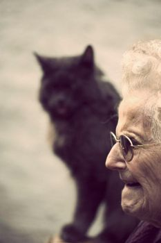 Grand mother and cat by Mcdbrd