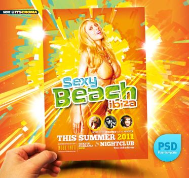 PSD Nightclub Party Flyer Summer by itscroma