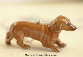 Dachshund Necklace by foowahu-etsy