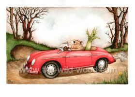 """I am a driving Hamster"" by WildWoodArtsCo"