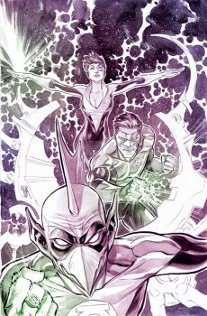 Green Lantern Corps Cover by manapul