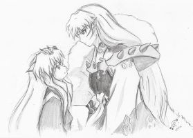 Sesshomaru and Inuyasha by Criticell
