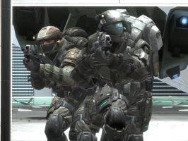 halo reach: marine and ODST by purpledragon104