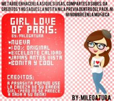 New Girl ~I Love Paris~ by Milegatura