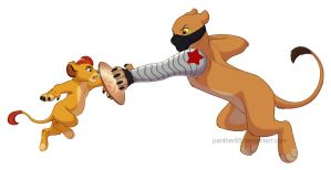 Captain Kion vs The Winter Lioness by Panther85