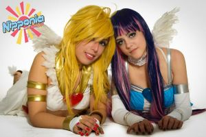Panty and Stocking on TV!! 4 by As-Naye