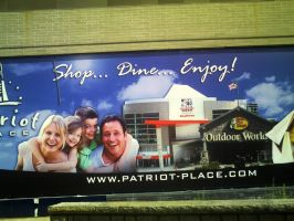 Patriot Place sign by DreamSkittles3000