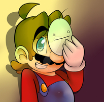 Mario as Cry by raygirl12